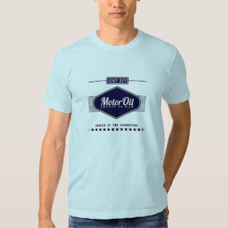 Rétro T-shirt d'huile de moteur
