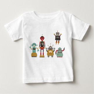 Rétro T-shirt mignon d'enfants de robots