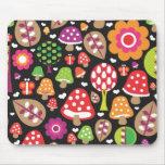 Rétro tapis de souris mignon de feuille de fleur d