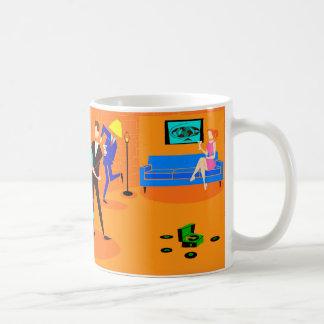 Rétro tasse de café de cocktail de bande dessinée