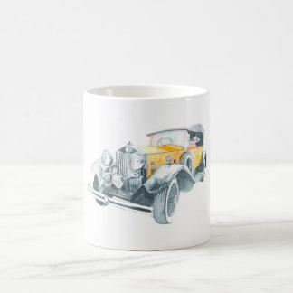 Rétro tasse vintage de peinture de voiture