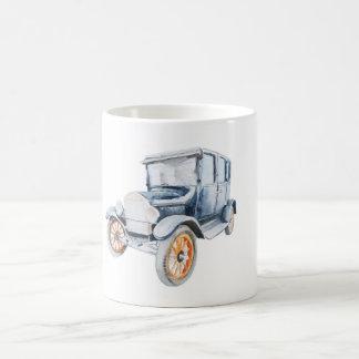 Rétro tasse vintage de voiture