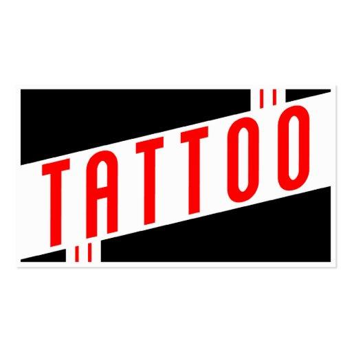 rétro tatouage carte de visite