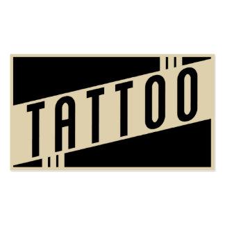 rétro tatouage carte de visite standard