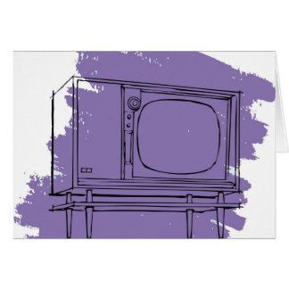 Rétro téléviseur vintage de les années 50 TV de ki Carte De Vœux