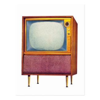 Rétro téléviseur vintage du kitsch TV Carte Postale