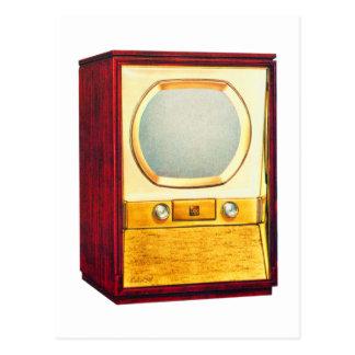 Rétro téléviseur vintage du kitsch TV Cartes Postales