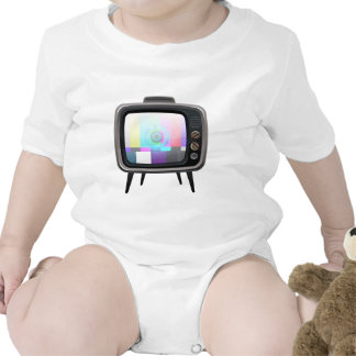 Rétro télévision body pour bébé