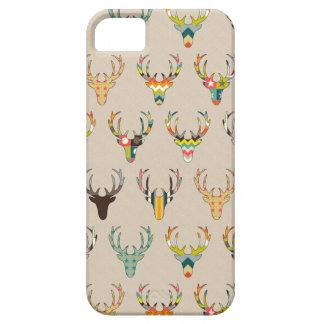 rétro tête de cerfs communs sur la toile coques iPhone 5