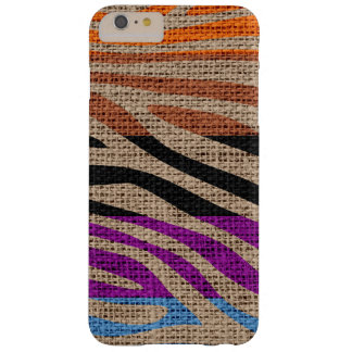 Rétro toile de jute de motif d'impression de peau coque barely there iPhone 6 plus