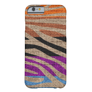 Rétro toile de jute de motif d'impression de peau coque iPhone 6 barely there