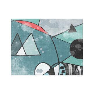 Rétro toile d'impression d'illustration de paysage impressions sur toile