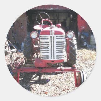 Rétro tracteur adhésifs ronds