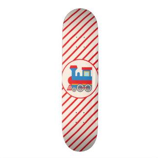 Rétro train rouge et bleu skateboard 20,6 cm