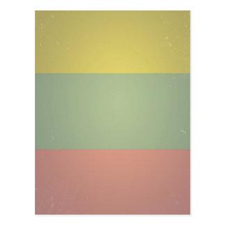 Rétro tri motif vintage de couleur cartes postales
