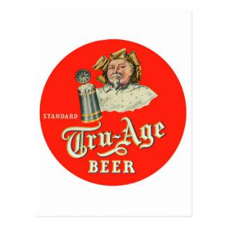 Rétro Tru-Âge vintage Scranton de bière anglaise Carte Postale