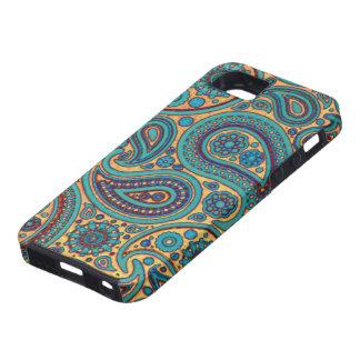 Rétro turquoise Paisley Coque iPhone 5