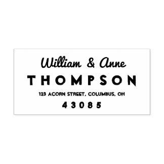 Rétro type frais timbre de Auto-encrage d'adresse Tampon Auto-encreur