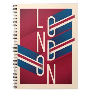 Rétro typographie illustrée de Londres, Angleterre Carnet
