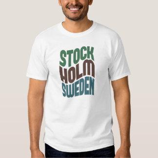 Rétro vague de Stockholm Suède T-shirts