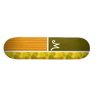 Rétro vert et orange skateboards