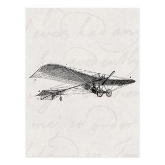 Rétro vieil avion d'appui vertical d'avion vintage carte postale