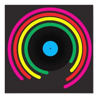 Rétro vinyle carton d'invitation  13,33 cm