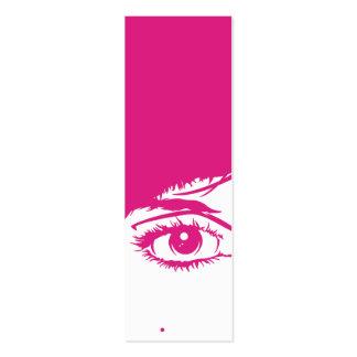 Rétro visage de filles en signet de silhouette carte de visite petit format