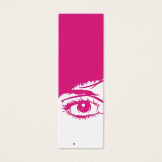 Rétro visage de filles en signet de silhouette mini carte de visite