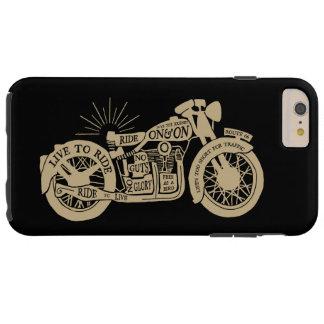 Rétro vivez pour monter la moto vintage avec le coque tough iPhone 6 plus