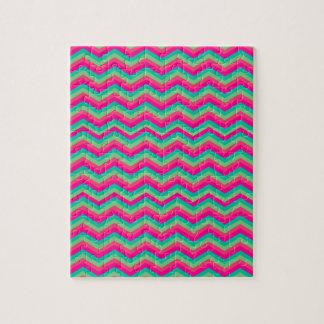 rétro zigzag de motif de chevron puzzles