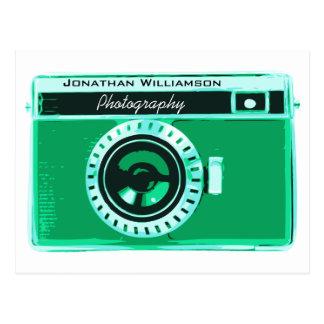 Rétros affaires vertes de photographie carte postale