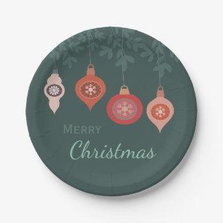Rétros ampoules vintages modernes de Noël Assiettes En Papier
