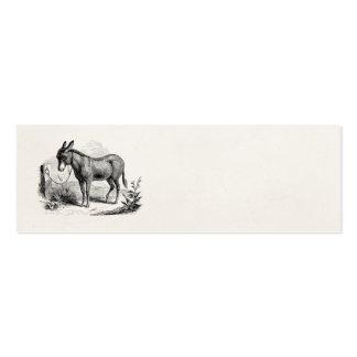 Rétros ânes personnalisés par âne domestique carte de visite petit format