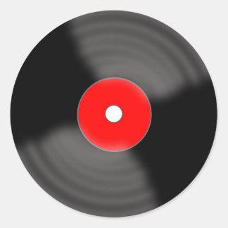 Rétros autocollants rouges de partie de disque