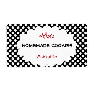 Rétros biscuits faits maison personnalisés de poin étiquette d'expédition