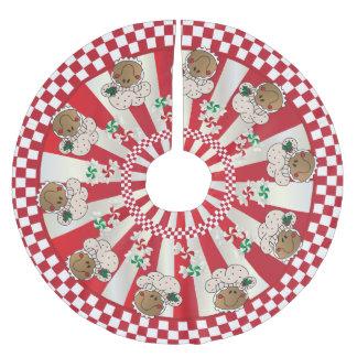 Rétros boulangers de pain d'épice de Noël Jupon De Sapin En Polyester Brossé