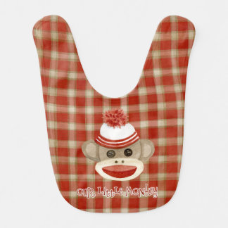 Rétros cadeaux de bébé de casquette de bas du bavoir