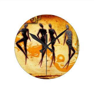 Rétros cadeaux vintages 33 de style de l Afrique Horloges Murales