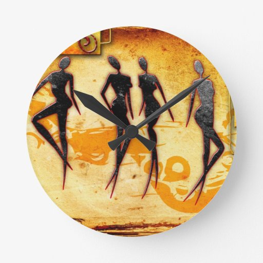 Rétros cadeaux vintages 33 de style de l'Afrique Horloges Murales