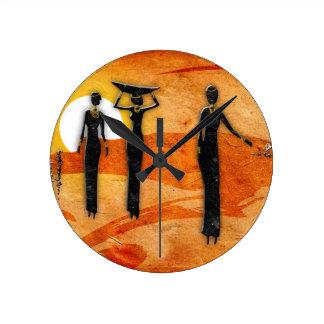Rétros cadeaux vintages 35 de style de l Afrique Horloge Murale