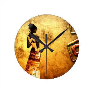 Rétros cadeaux vintages AF087 de style de Horloge Ronde