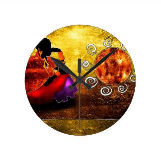 rétros cadeaux vintages de style d'af002 Afrique Horloge Ronde
