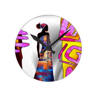 rétros cadeaux vintages de style d'af087 Afrique Horloge Ronde