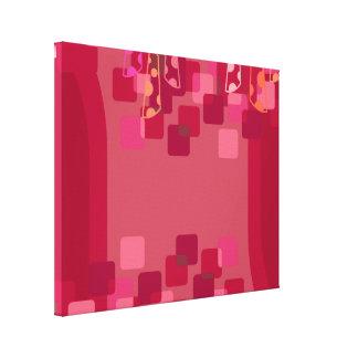 Rétros carrés rouges impressions sur toile