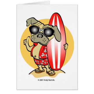 Rétros cartes de carlin de Surfin de style
