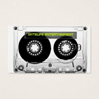 Rétros cartes de visite clairs de cassette de