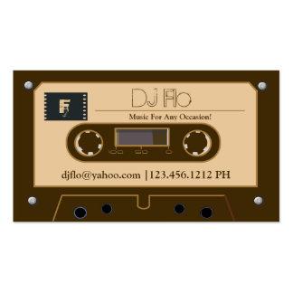 Rétros cartes de visite faits sur commande du DJ Carte De Visite Standard