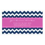 Rétros cartes de visite roses bleus de Chevron Cartes De Visite Personnelles