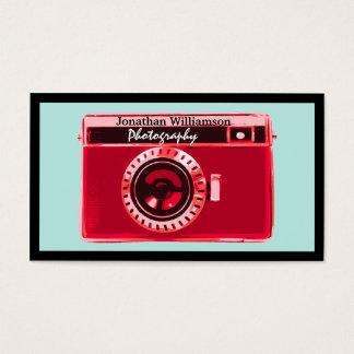 Rétros cartes de visite rouges de photographie
